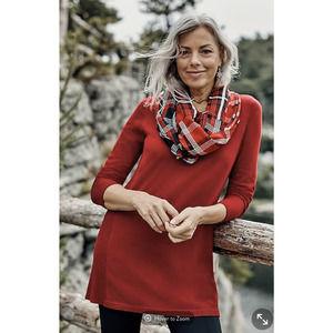 J. Jill Elise A Line Tunic Sweater Soft Rib Trim